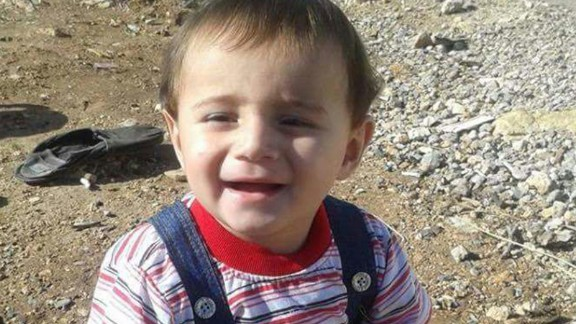 Dilbireen Muhsin, a 2-year-old boy from Iraq's Yazidi community, was born in a refugee camp January 4, 2015.