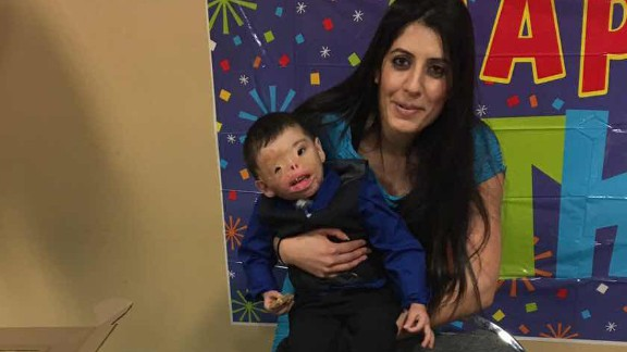 """Dilbireen celebrated his 2nd birthday in the US last month. In a message to the boy, father Ajeel Muhsin said, """"I am hopeful that we will come soon. Finish all your operations. After that, we will return to Iraq. We love you. Kisses."""""""