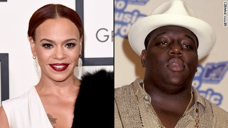 R & B singer Faith Evans was the wife of the late rapper The Notorious B.I.G.