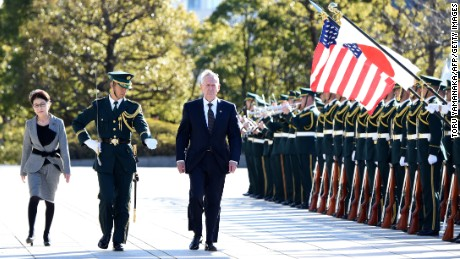 Mattis: US will defend Japanese islands claimed by China
