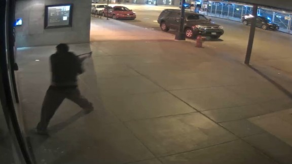 Chicago Police release surveillance video of man smashing from window of synagogue