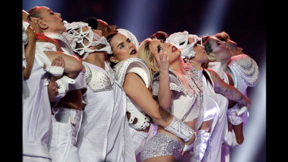 "Gaga closed with ""Bad Romance."""