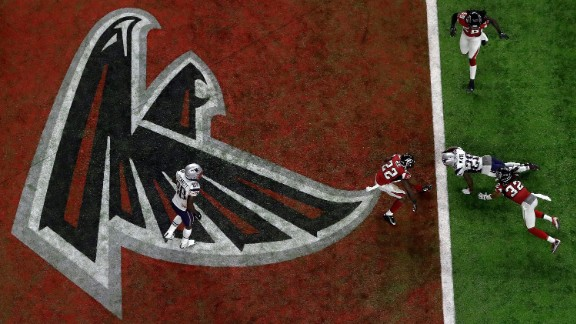 White crosses the goal line for a third-quarter touchdown. This one was on a short catch.