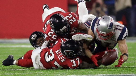 New England wide receiver Julian Edelman makes a spectacular catch on the Patriots