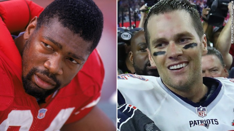<strong>Most Super Bowl wins for one player:</strong> Defensive end Charles Haley, left, played in five Super Bowls -- and he won every one of them. The first two came with San Francisco, while the last three came with Dallas in the 1990s. Quarterback Tom Brady, right, has appeared in eight Super Bowls and won five of them, all with New England.