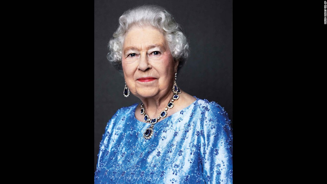 This 2014 portrait of Queen Elizabeth II was reissued on February 6, 2017, to celebrate her Sapphire Jubilee -- 65 years since she ascended to the throne.