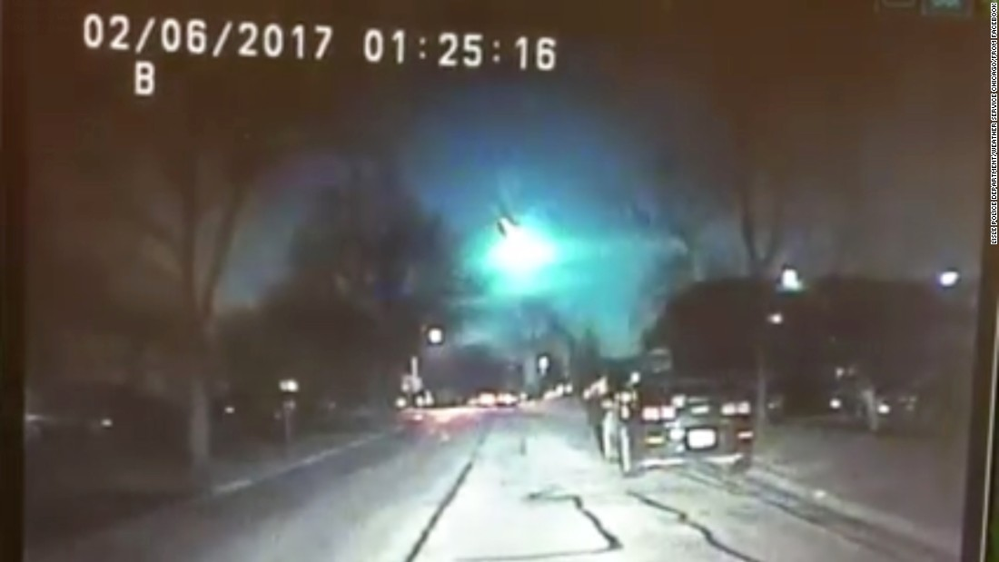 Fireball meteor makes spectacular Midwest appearance