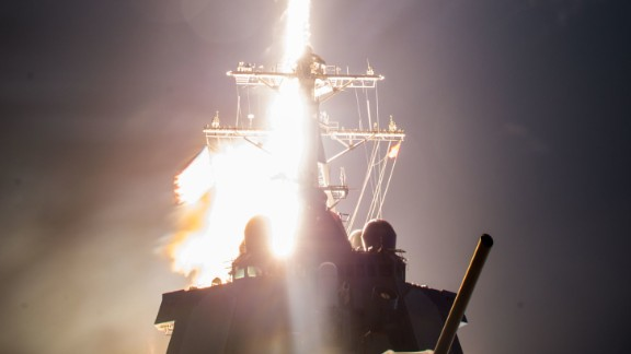 The USS John Paul Jones launches a ballistic missile interceptor on February 3, 2017, off Hawaii.