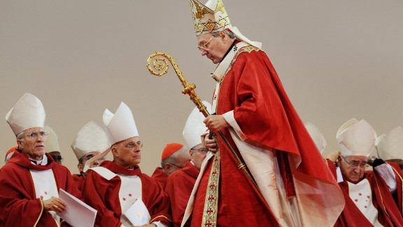 Cardinal George Pell officiates the opening mass of World Youth Day (WYD), in Sydney on July 15, 2008.