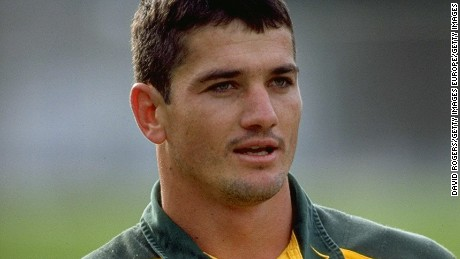 21 Jul 1998:  Portrait of Joost van der Westhuizen of South Africa during a training session for the Tri-Nations match against New Zealand in Wellington, New Zealand. \ Mandatory Credit: David  Rogers/Allsport