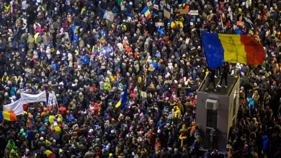 On Sunday, February 5, Romanians turned out for a sixth straight day to demonstrate against a new law passed last week that would decriminalize corruption. Amid the protests Sunday night, the decree was officially repealed in a government statement following an emergency meeting of Prime Minister Sorin Grindeanu's Cabinet.