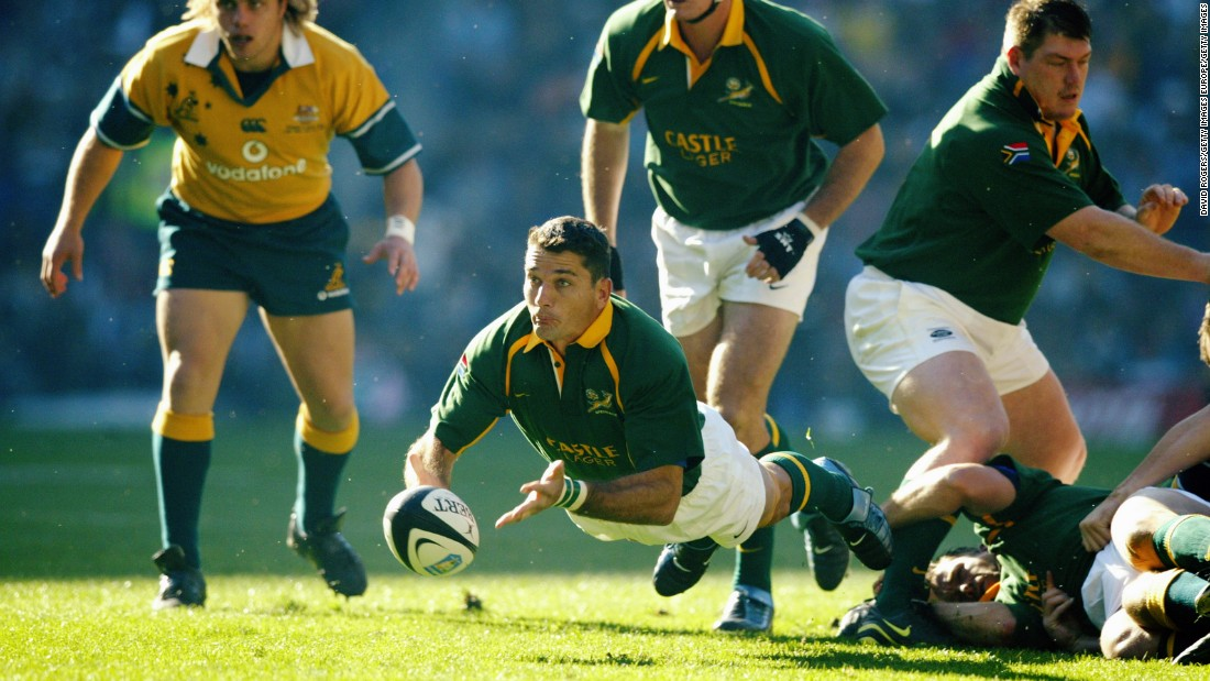 The scrumhalf won 89 caps for his country and scored 38 tries between 1993 and 2003.