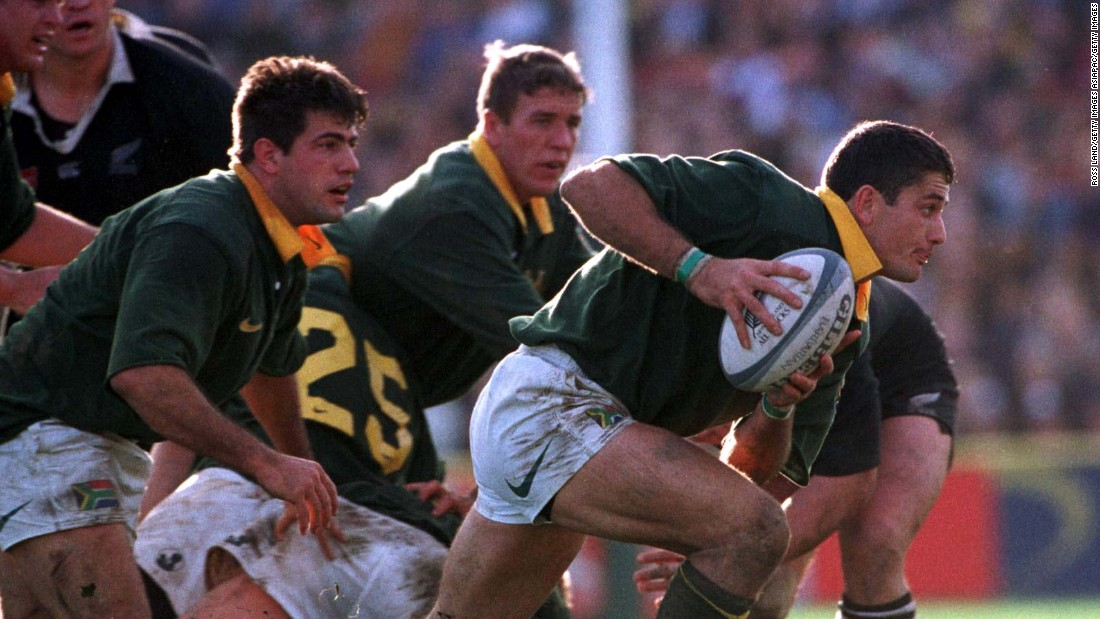 Van der Westhuizen was also part of the South Africa side which won the Tri-Nations -- now the Rugby Championship -- for the first time in 1998, winning all four games against New Zealand and Australia.