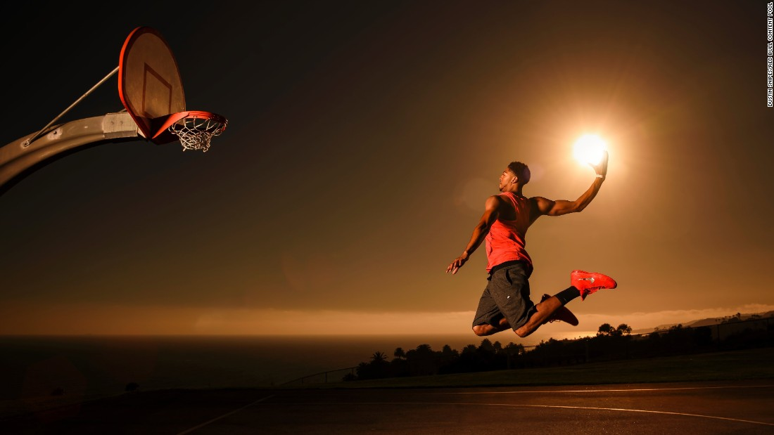 "They were inspired by another series of photos taken by Snipes -- ""Dunk the Sun"" -- featuring NBA star Anthony Davis."
