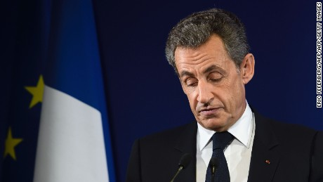 Nicolas Sarkozy  was beaten in the first round of the Republican primary vote.