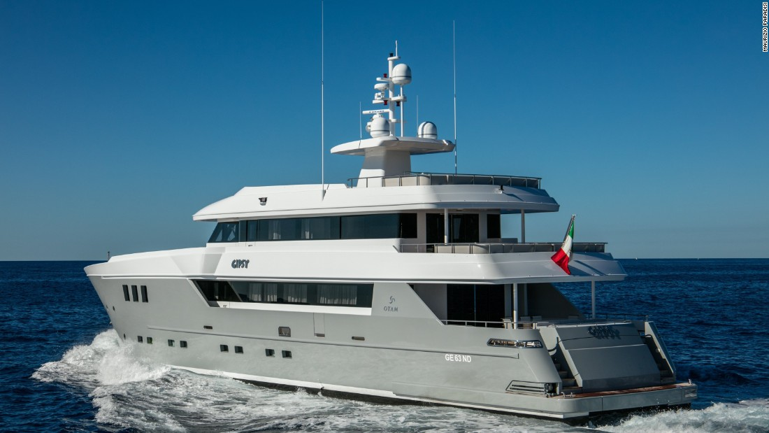 Italian superyacht Gipsy's 2.2 meter draft enables her to explore shallow waters, while a 40<sup>2 </sup>meter saloon, a movie theater and full-beam dining room enhance the onboard comfort..