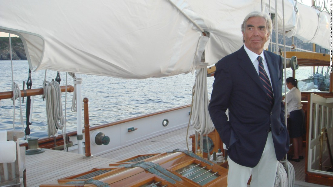 Argentine Germán Frers, designer of 1992 Louis Vuitton Cup winner Il Moro di Venezia,  picked up the Lifetime Achievement award. His work continues to inspire -- the multi-award-winning 150ft Unfurled was named Sailing Yacht of the Year at the World Superyacht Awards in 2016.
