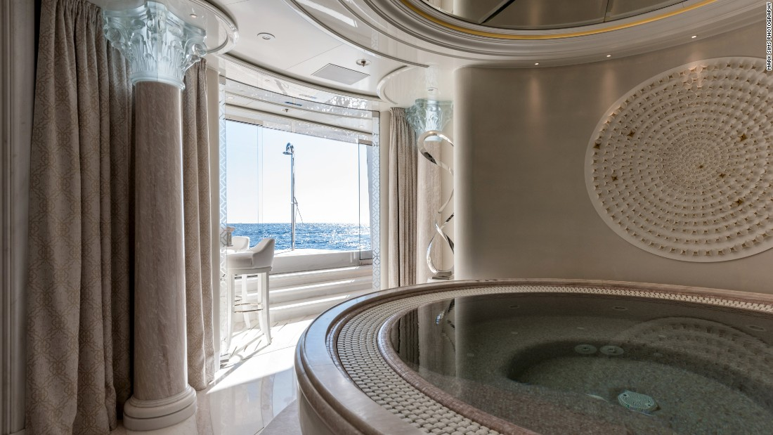 When it comes to relaxation, it's hard to top the 75m<sup>2 </sup>wellness space onboard PLVS VLTRA. Featuring everything from a hair studio to a Turkish bath, the judges named it  Best Recreational Lifestyle Design Feature.