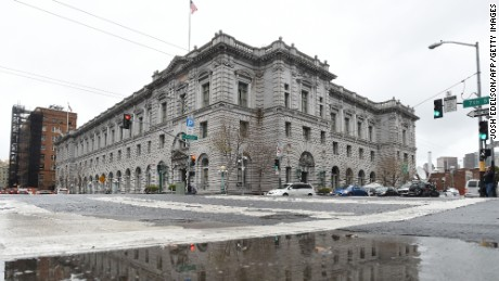 The United States Court of Appeals for the Ninth Circuit building is seen February 6, 2017 in San Francisco, California, where on February 7, 2017, three federal judges will hear oral arguments in the challenge to US President Donald Trump's travel ban.