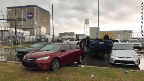 NASA's Michoud Assembly Facility in New Orleans was damaged in the storm.