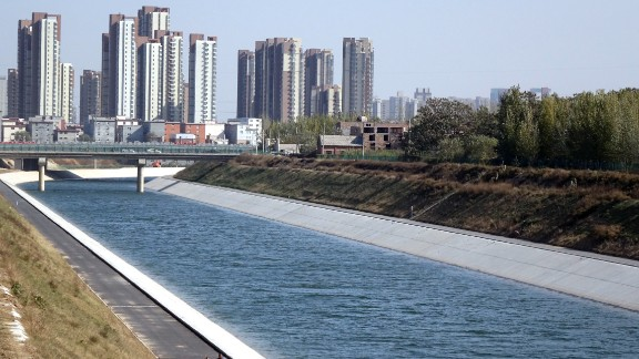 South to North Water Diversion seen on November 12, 2014 in Zhengzhou, Henan province of China.