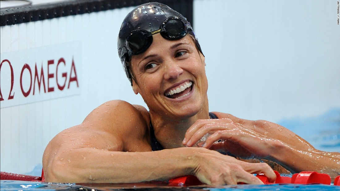 US swimmer Dara Torres came out of retirement at age 41 to win three Olympic silver medals at the 2008 Beijing Games.