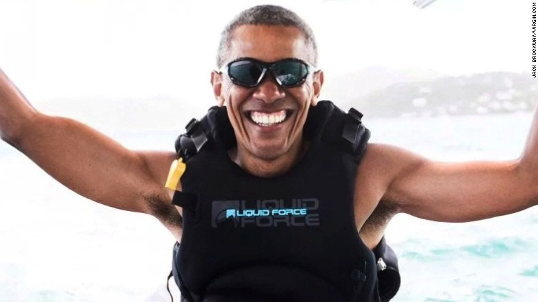 Obama lives it up on vacation