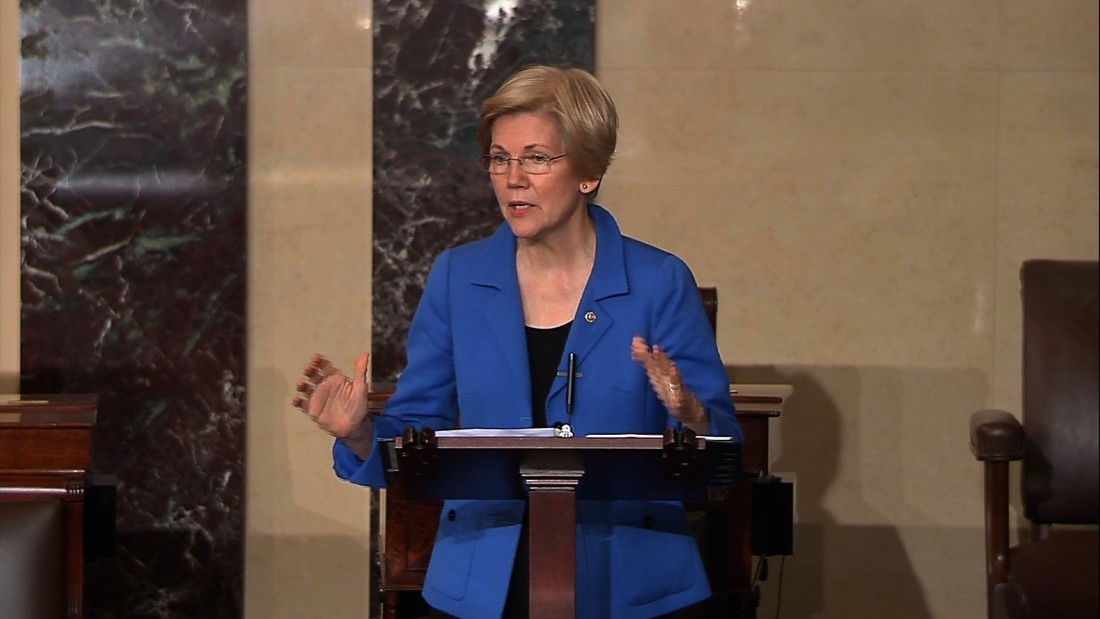 #LetLizSpeak: 'She persisted' becomes rallying cry for Warren supporters