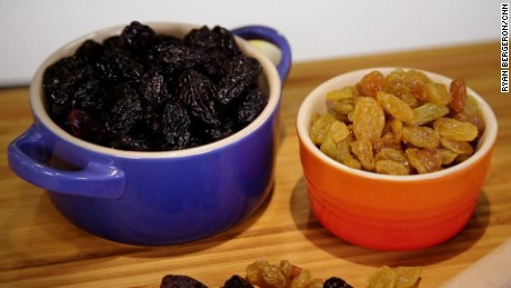 Raisins provide a quick boost of energy.