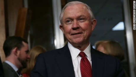 Sessions reacts to reports he met with Russia