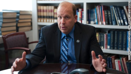 Pennsylvania state Sen. Daylin Leach gestures during an interview in Washington in 2013.