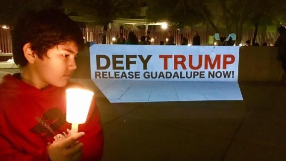 Demonstrators gathered outside an ICE office in Phoenix, Arizona, Wednesday