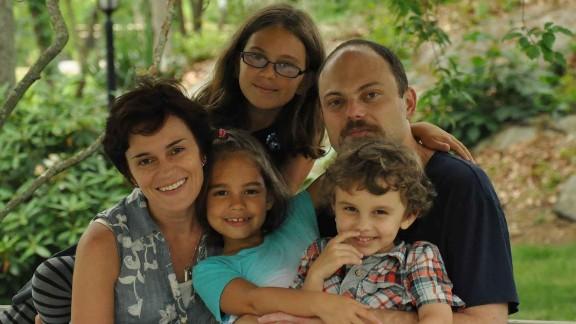 Kara-Murza with his wife, Evgenia, and their three children.