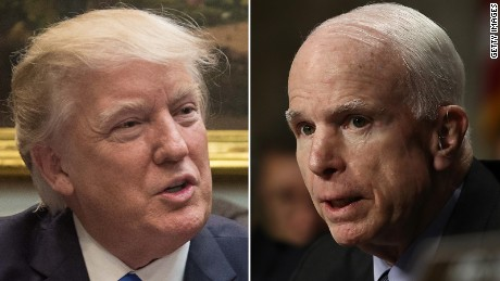Trump attacks McCain for criticizing Yemen raid