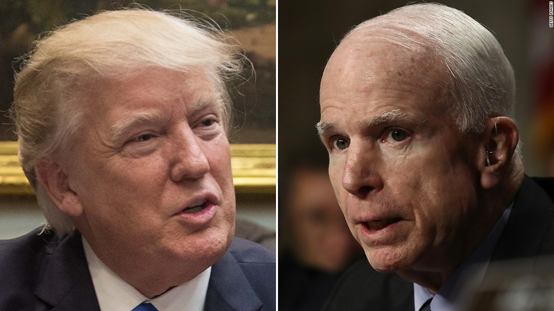 Opinion: When Trump trashes McCain, this is why we can't look away