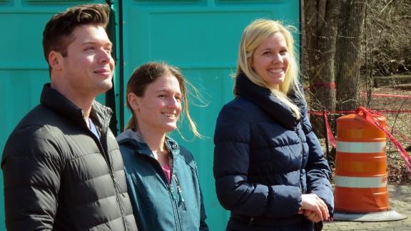 Assistant conservators Chris Szaro, Danielle Collier and Megan Crouch.