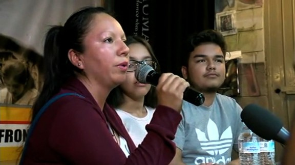 Guadalupe Garcia at press conference in Nogales, Mexico on February  9th, 2017. Garcia was deported from Arizona to Mexico.