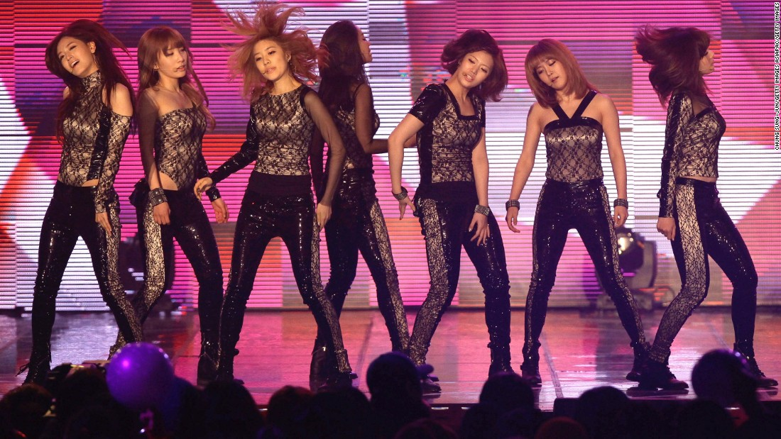 Rainbow, at their concert at the MBC Music Festival at Olympic Hall on January 31, 2012, in Seoul, South Korea. The group split up last November.