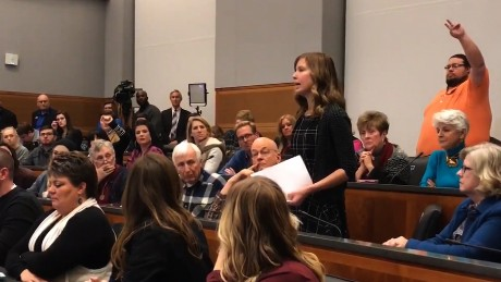 Teacher's town hall question goes viral