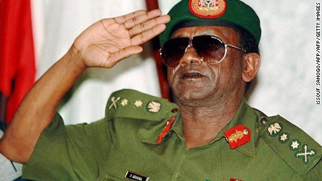 Abacha came into power in through a military coup 1993 and ruled Nigeria until his death in 1998.