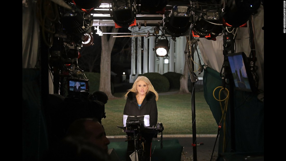 "Kellyanne Conway, a White House counselor to President Trump, is interviewed in Washington on Thursday, February 9. In a Fox News interview, <a href=""http://www.cnn.com/2017/02/10/politics/kellyanne-conway-tweets-potus-supports-me/index.html"" target=""_blank"">Conway urged viewers to ""go buy Ivanka's stuff""</a> after Nordstrom and other stores said recently that they were changing their relationship with Ivanka Trump's clothing line because of poor sales. The comments could run afoul of a federal law that bars public employees from making an ""endorsement of any product, service or enterprise, or for the private gain of friends, relatives, or persons with whom the employee is affiliated in a nongovernmental capacity."" A senior administration official told CNN that Conway apologized to the President."