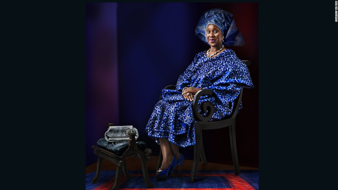 Born in Nigeria in 1964, the photographer's previous works have been exhibited in the Solomon R. Guggenheim Museum, as well as the Smithsonian Museum of Art.