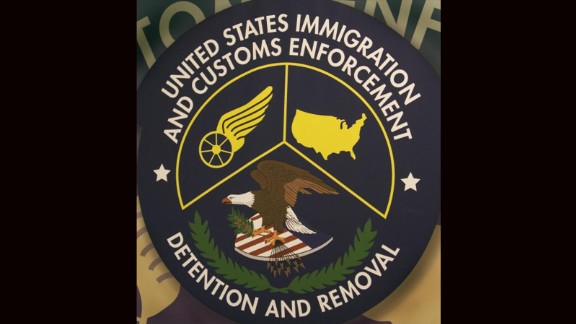 Raymondville, UNITED STATES: The logo of the US Homeland Security Department of Immigration and Customs Enforcement(ICE) Detention and Removal unit is seen 10 May 2007 the Willacy Detention Cention in Raymondville, Texas.