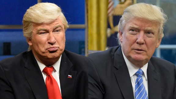 Is it Baldwin on the left, or Trump on the right...?
