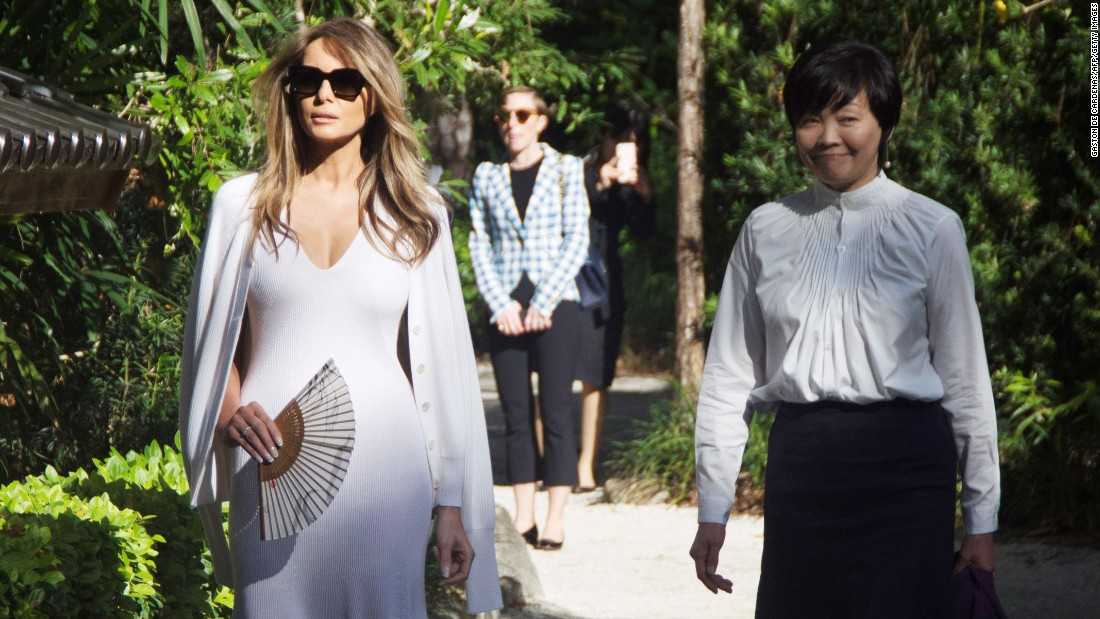 Melania Trump Visits Japanese Garden With Akie Abe   CNNPolitics