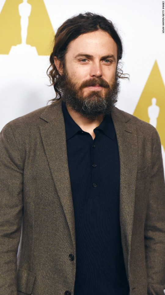 "Casey Affleck is nominated for best performance by an actor in a leading role in ""Manchester by the Sea."""