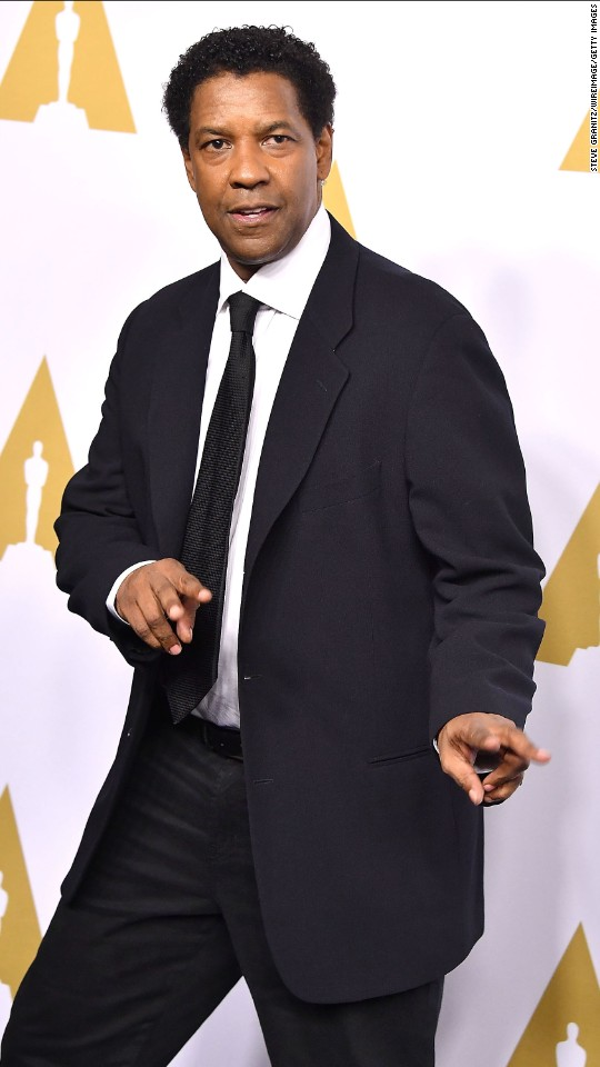 "Denzel Washington is  nominated for best performance by an actor in a leading role in ""Fences."""