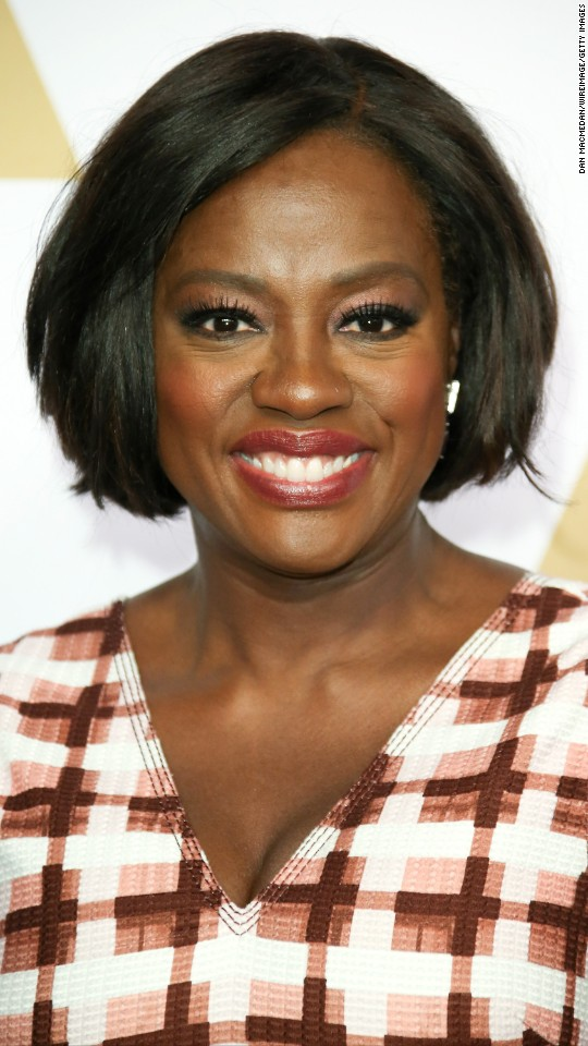 "Viola Davis is nominated for best performance by an actress in a supporting role in ""Fences."""