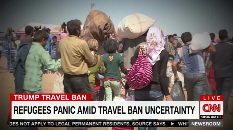 Refugees Panic Amid Travel Ban Uncertainty _00000000