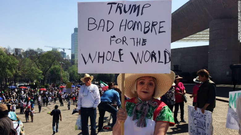 Anti-Trump protests take place across Mexico